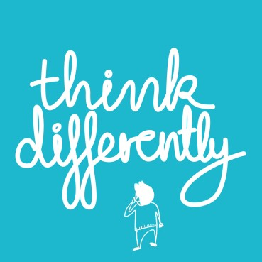 Think Differently blue