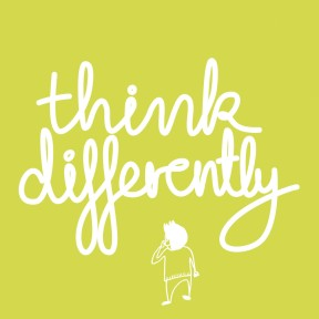 Think Differently light green