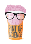 Pint of Science Logo with Glasses