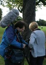 Janet with BBC Soundman