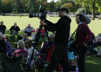 Volunteers and BBC Camera