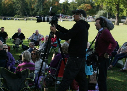 Volunteers and BBC Camera