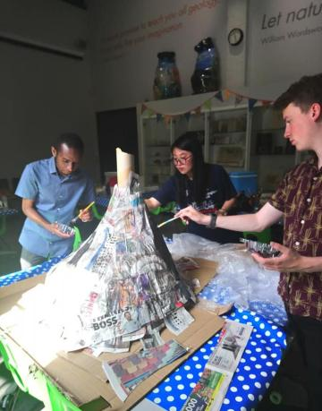 Volcano volunteer team