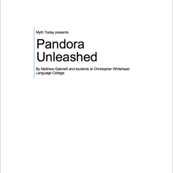 Front page of Pandora Unleashed script